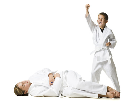 gi: Youth Practicing Martial Arts