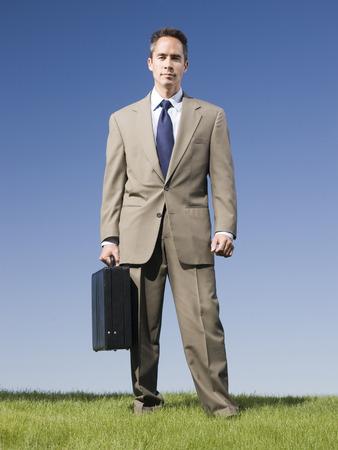 Man Holding A Briefcase