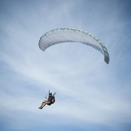one mature man only: Usa, Utah, Lehi, Man Paragliding