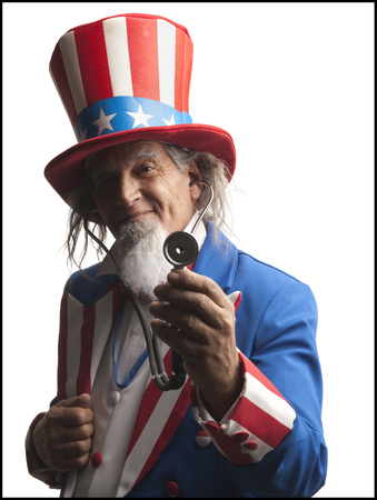 Uncle Sam Wearing A Stethoscope LANG_EVOIMAGES