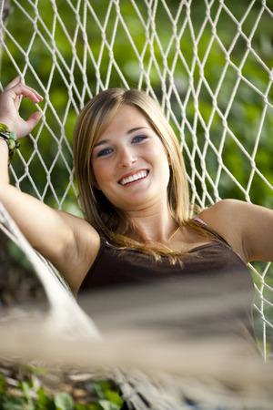 Teenage Girl In A Hammock