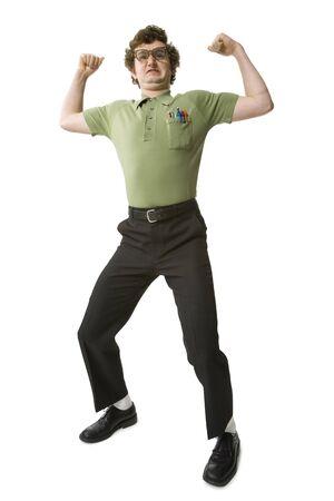 Man Waving Fists
