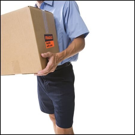 Delivery Man With Damaged Package LANG_EVOIMAGES