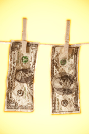 Banknotes On Clothesline