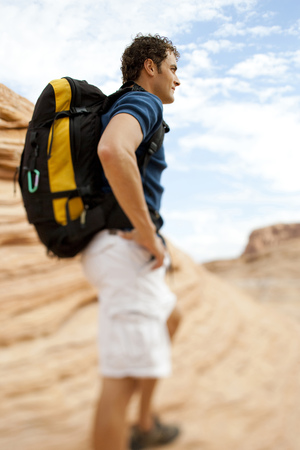 Man With Backpack LANG_EVOIMAGES