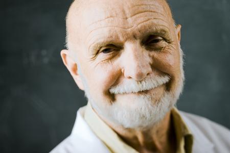 the elderly tutor: Close Up Of Male Science Teacher