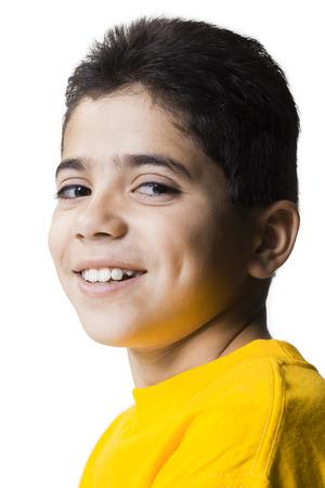 Closeup Of Boy Smiling