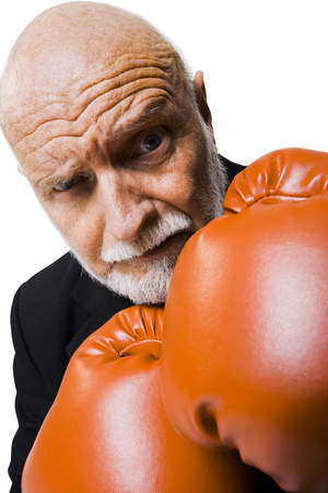 punched out: Businessman With Boxing Gloves