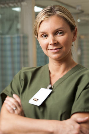 caregivers: Hospital Worker Posing