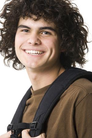Teenage Boy Smiling With Backpack LANG_EVOIMAGES