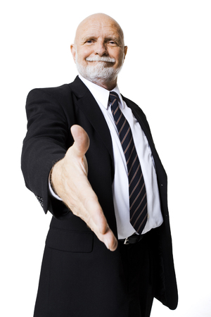 Portrait Of Businessman With Outstretched Hand