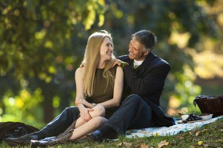 Couple Having Picnic Outdoors