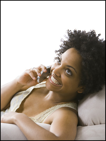 Woman On A Cell Phone