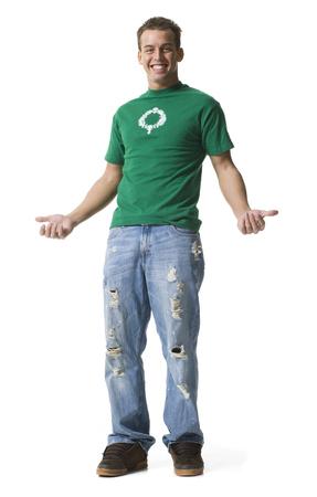 Teenage Boy Flexing LANG_EVOIMAGES