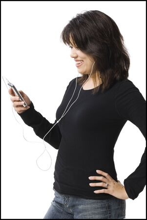 vietnamese ethnicity: Woman With Mp3 Player Smiling