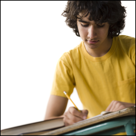 Boy Studying LANG_EVOIMAGES
