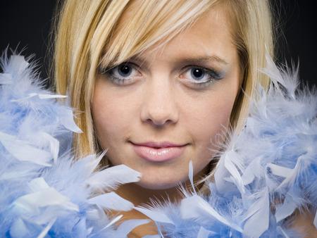 boas: Woman With Feather Boa