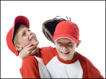 Close-Up Of Two Baseball Players Smiling LANG_EVOIMAGES