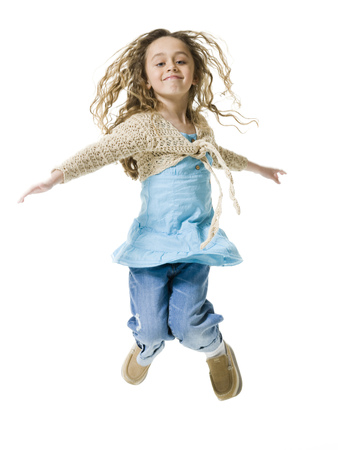 levis: Portrait Of A Girl Jumping In Mid Air