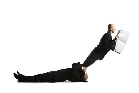 profile picture: Profile Of Two Male Acrobats In Business Suits