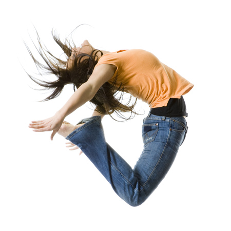 ebullient: Portrait Of A Teenage Girl Jumping