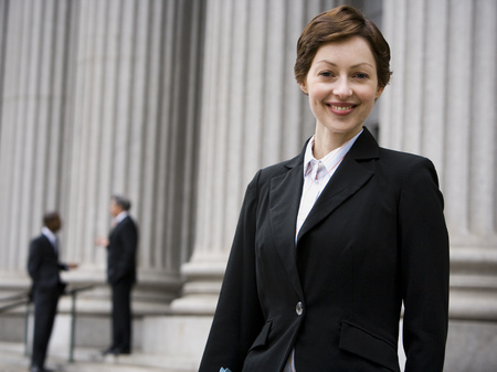polity: Portrait Of A Female Lawyer Smiling