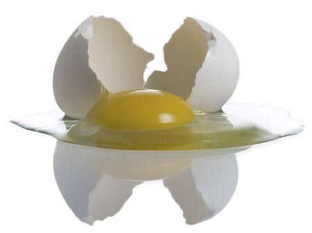 Close-Up Of A Broken Egg