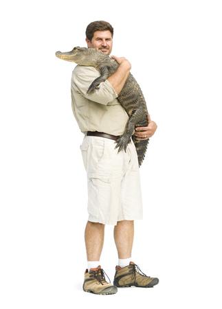 handlers: Animal Handler With Alligator