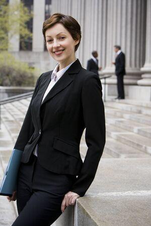 law suit: Portrait Of A Female Lawyer Smiling