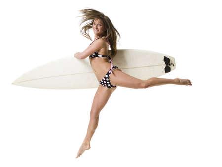 hurried: Female Surfer