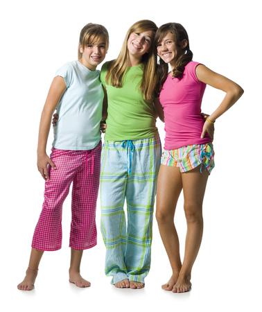 Three Girls In Pajamas