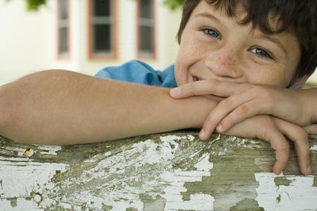 Retrato de un niño sonriendo