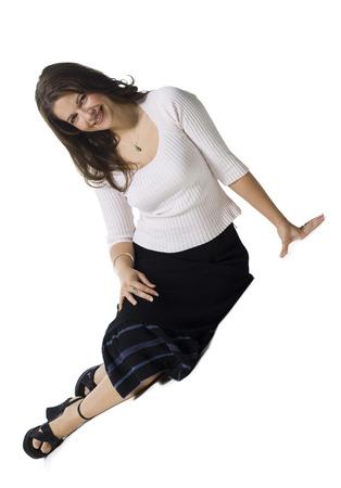 zapatos de seguridad: Retrato de una mujer adulta media sonriendo LANG_EVOIMAGES