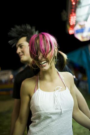 Punk Couple At A Fairground
