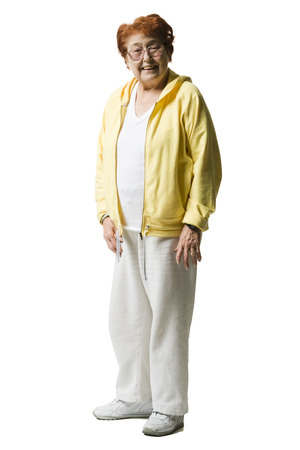 one mature woman only: Elderly Woman