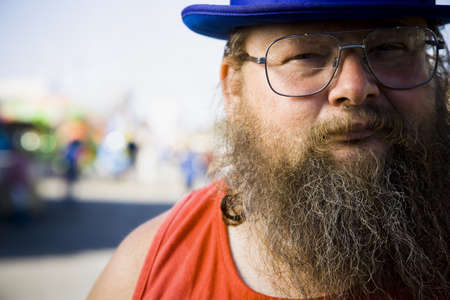 Overweight Man With A Beard
