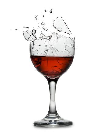 Exploding Wine Glass