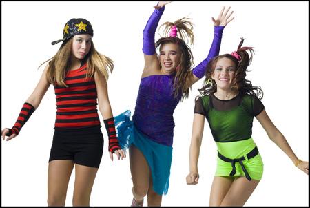 tweens: Girls In Costume Dancing