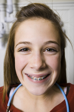 caregivers: Girl With Braces Smiling