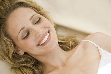 Closeup Of Woman Smiling