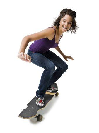 Girl With Braces On Skateboard LANG_EVOIMAGES