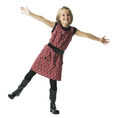Girl Smiling And Dancing