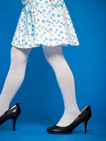 Girl In High Heeled Shoes Waist Down Profile