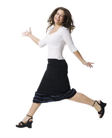 Portrait Of A Mid Adult Woman Walking LANG_EVOIMAGES