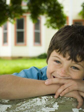 ebullient: Portrait Of A Boy Smiling