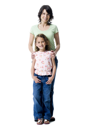 plumb: Portrait Of A Girl Standing With Her Mother