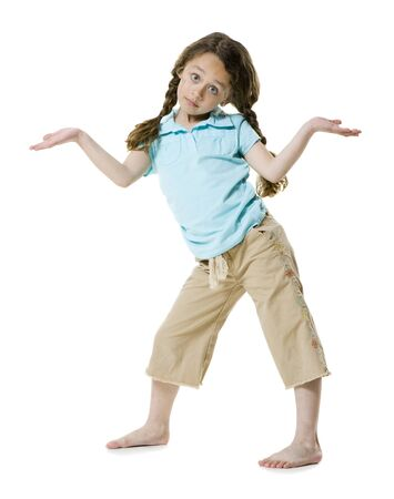 Portrait Of A Girl Shrugging LANG_EVOIMAGES