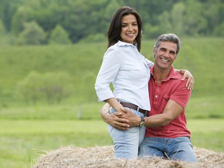 Portrait Of A Man Embracing A Woman