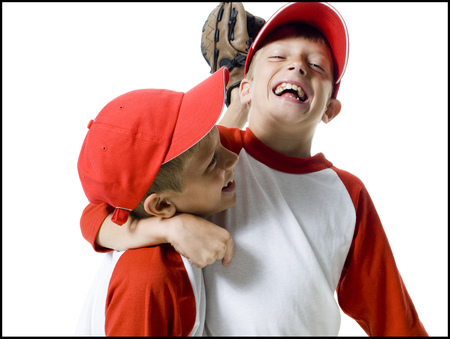 mit: Close-Up Of Two Baseball Players Smiling LANG_EVOIMAGES