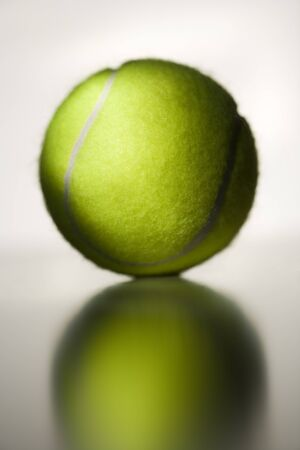 Close-Up Of A Tennis Ball LANG_EVOIMAGES